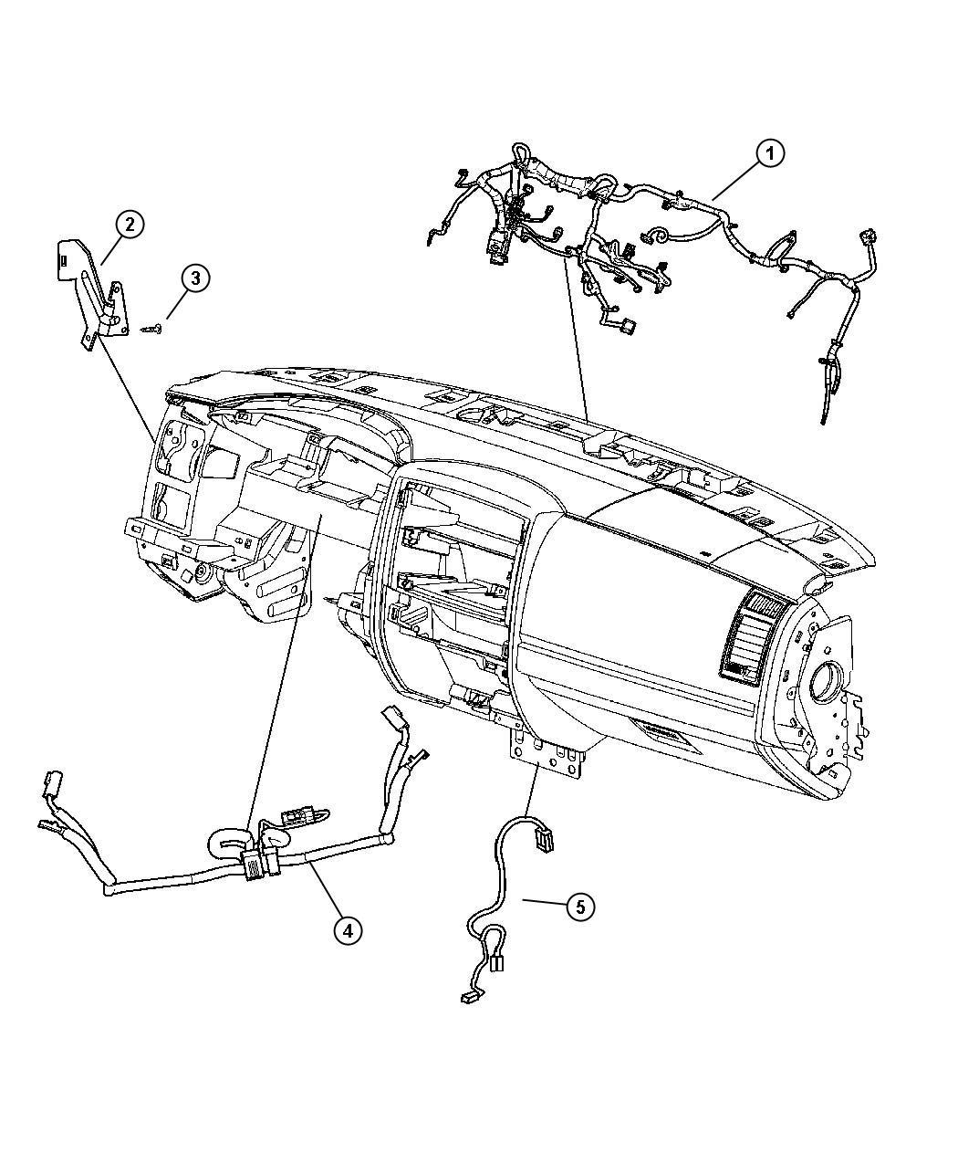 2006 Dodge Dakota SLT QUAD CAB 4.7L V8 A/T 4X2 Wiring