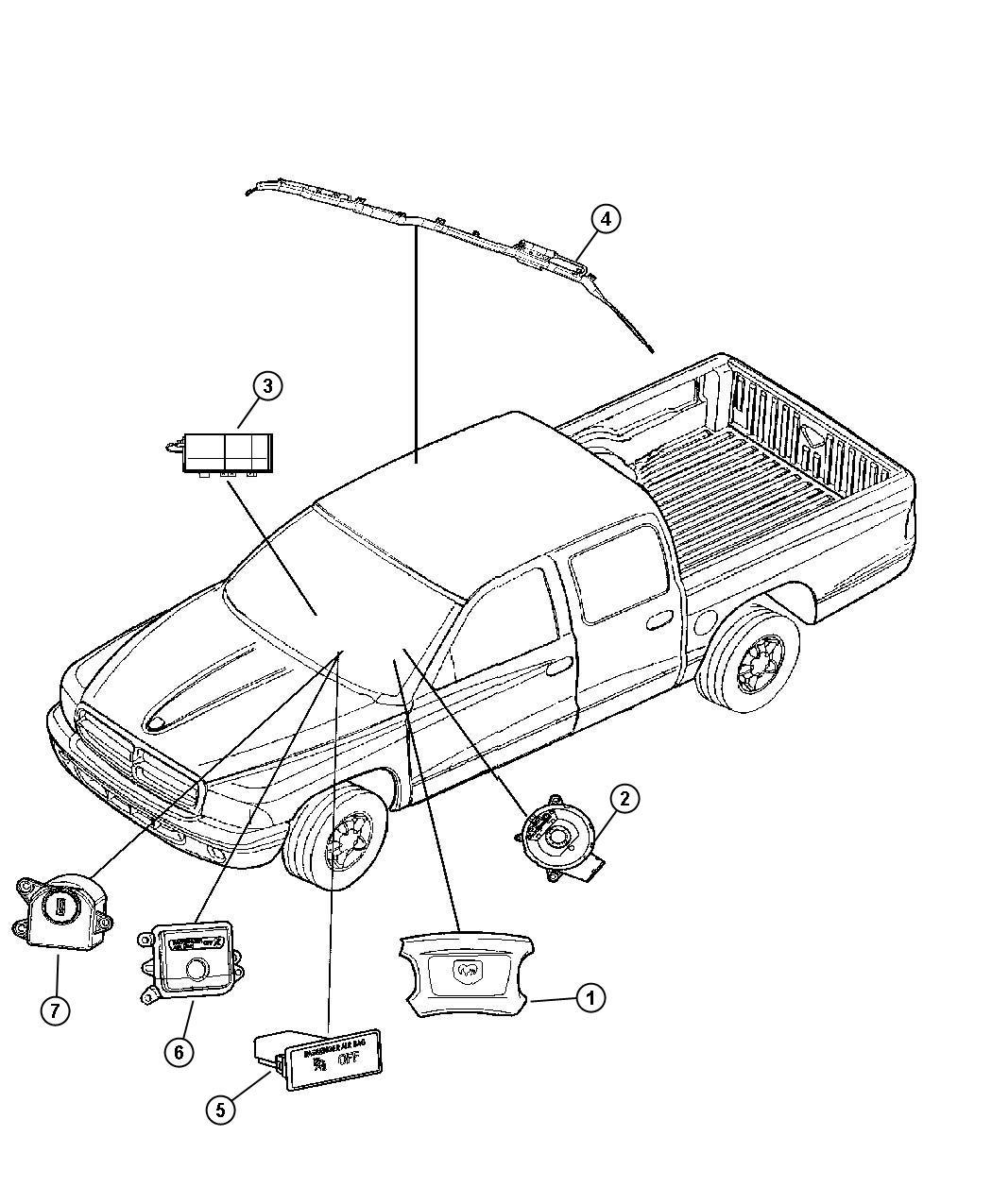 Dodge Clockspring Steering Column Control Module