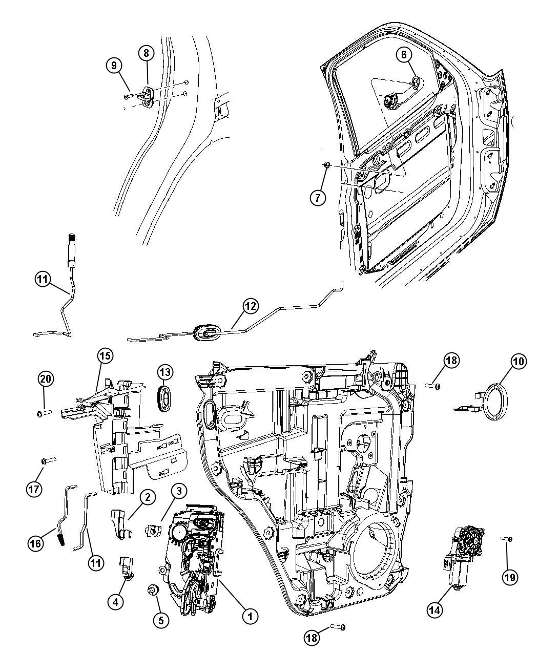 2007 Dodge Nitro SLT 3.7L V6 A/T 4X4 Handle. Inside remote