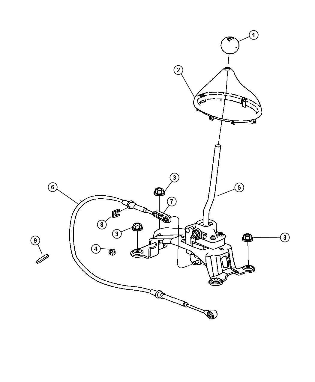 Chrysler Pt Cruiser Knob. Gearshift. Trim: [all trim codes