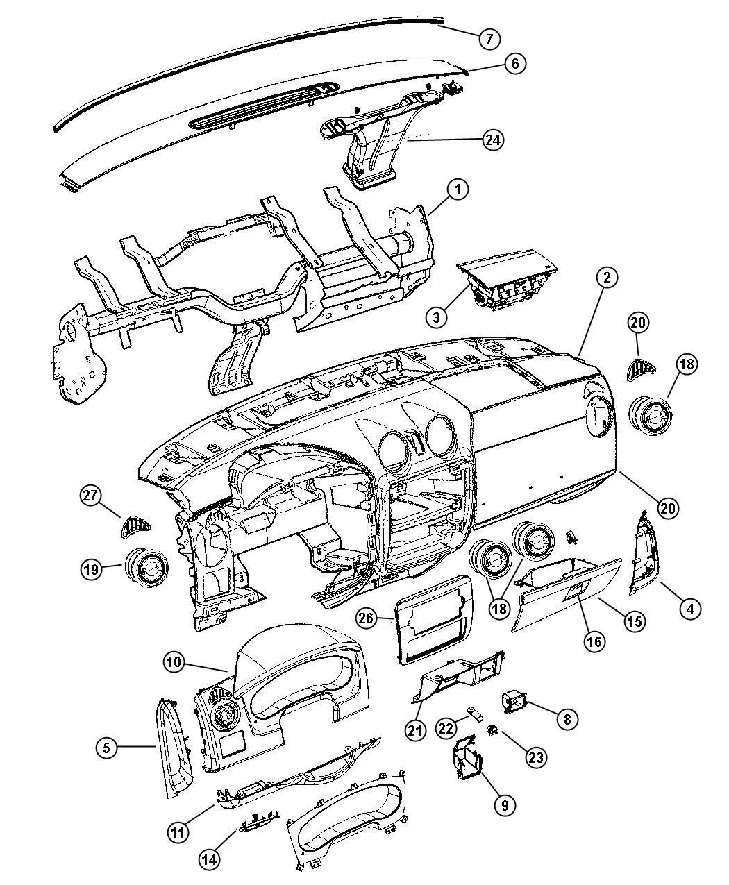 Dodge Ram Latch Glovebox Door Trim All Trim Codes