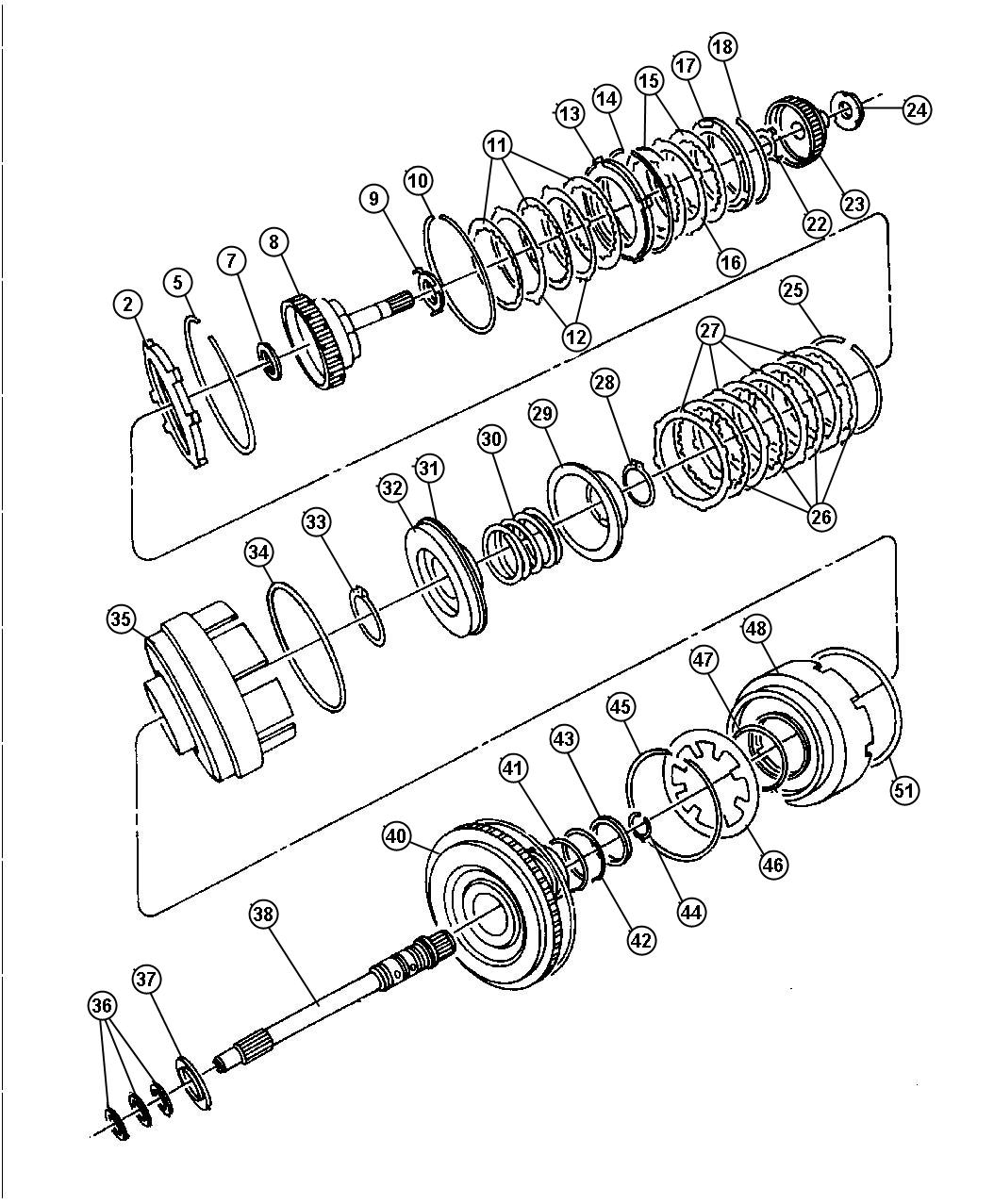 RAM 1500 Input shaft package. Transaxle. Input 22t, input