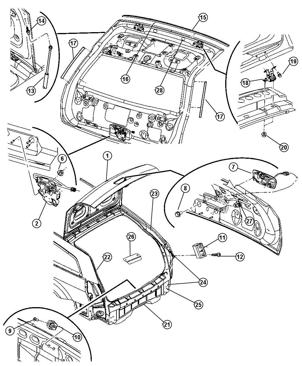 2007 Dodge Magnum BASE 2.7L V6 Latch. Liftgate. Ahv