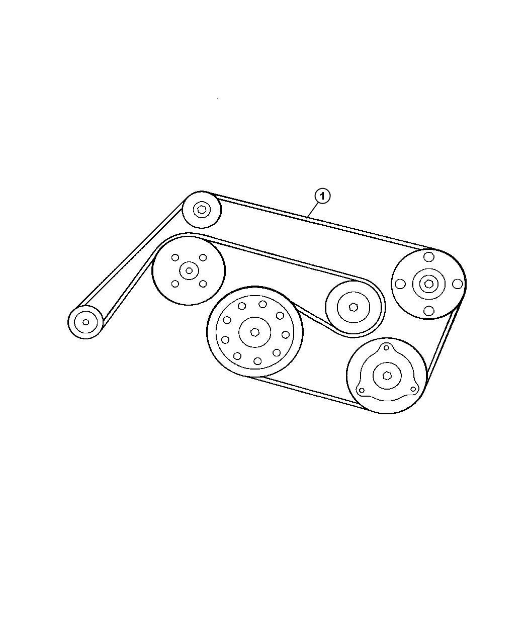 Chrysler Crossfire Belt. Accessory drive, serpentine