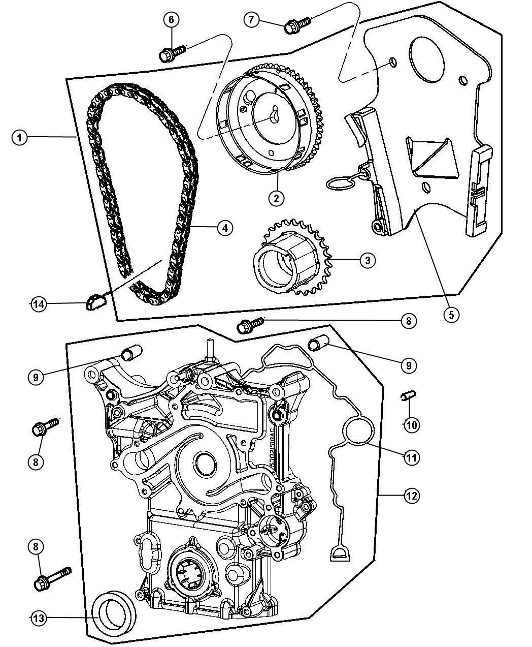 Dodge Ram 1500 Timing drive kit. Engine. Mega cab, quad