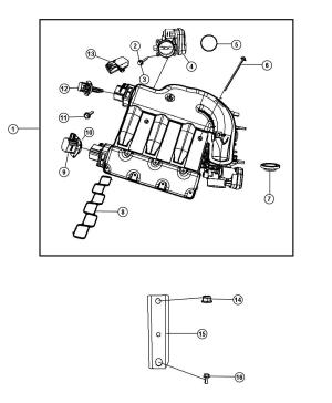 68020076AB  Mopar Actuator, actuator package Manifold tuning valve | Mopar Parts Overstock