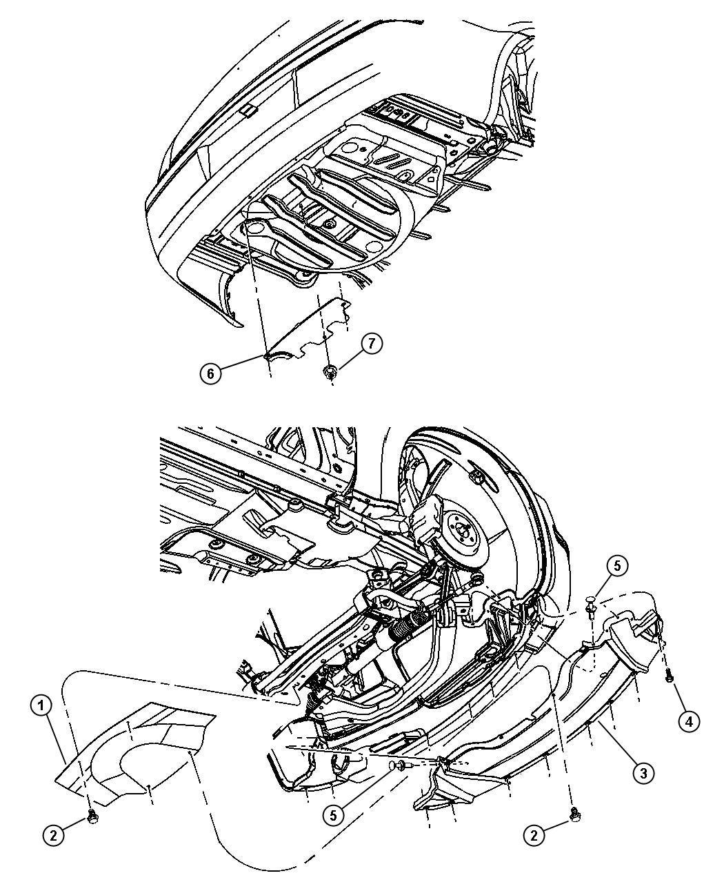2006 Dodge Magnum SRT8 SRT8 6.1L Hemi SRT V8 Belly pan