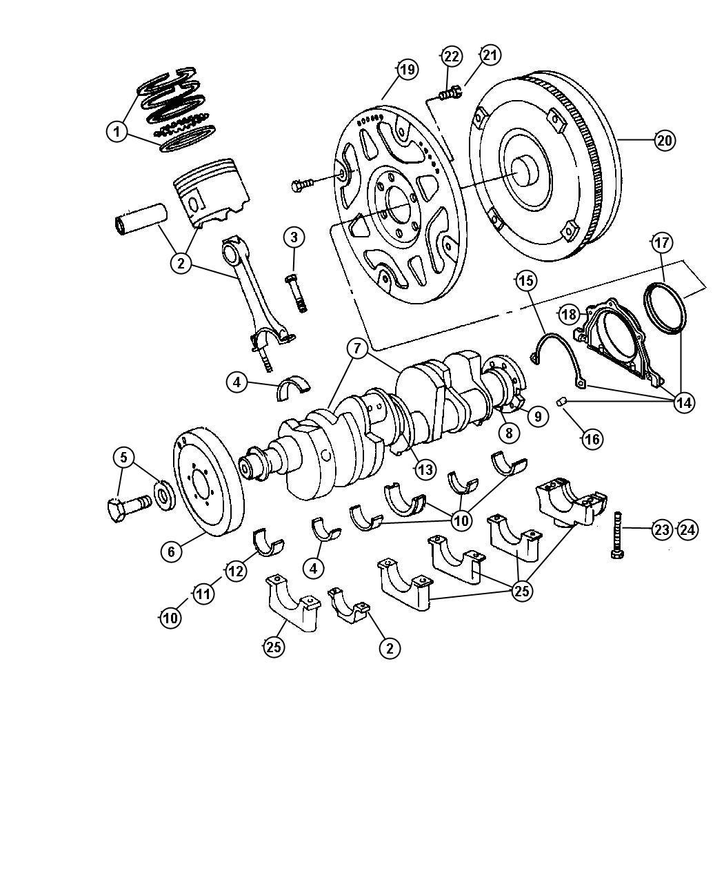 Dodge Bearing Kit Bearing Package Connecting Rod
