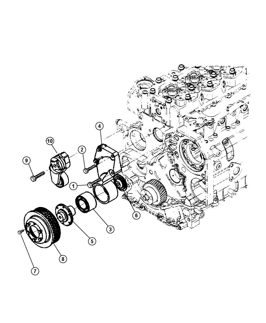 Dodge Ram Bolt Screw Hex Flange Head M6x1
