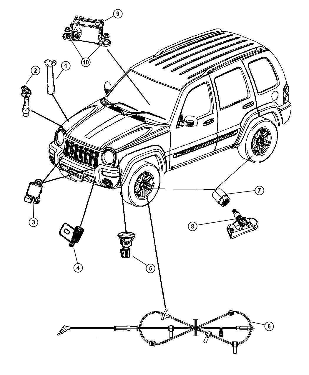 Jeep Liberty Sensor Anti Lock Brakes Left Ckdantilock