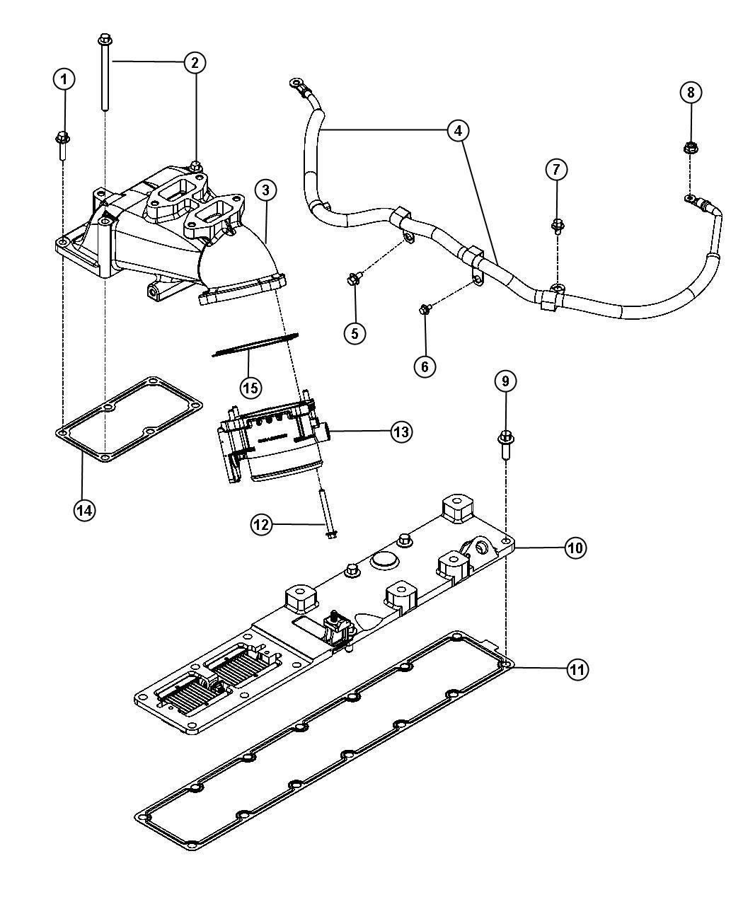 Dodge Ram 3500 Plenum. Intake manifold. [federal emissions