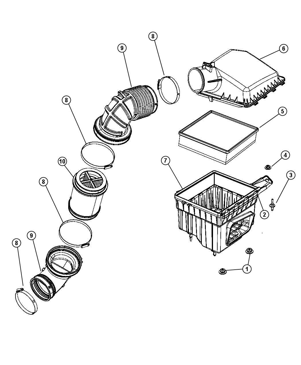 Dodge Ram Body Air Cleaner 6 7l Cummins Turbo