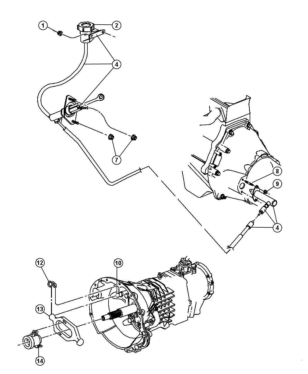 1999 Dodge Diaphragm. Clutch reservoir. Mounting