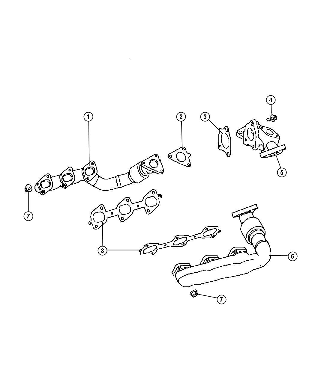 Jeep Grand Cherokee Gasket. Turbocharger. Turbocharger to
