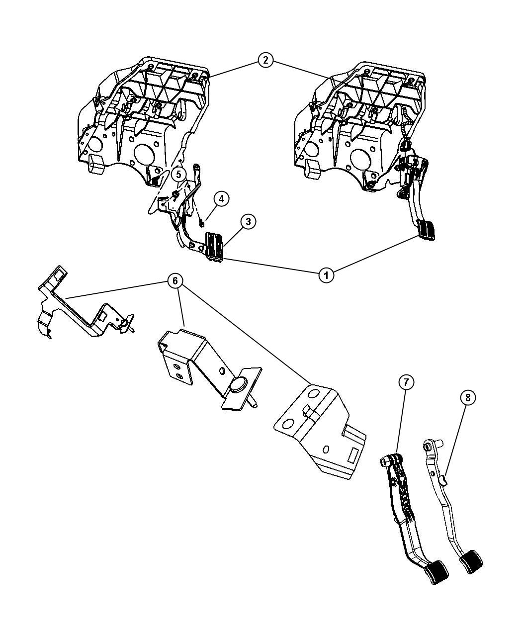 Dodge Ram 3500 Pedal assembly, used for: pedal and bracket