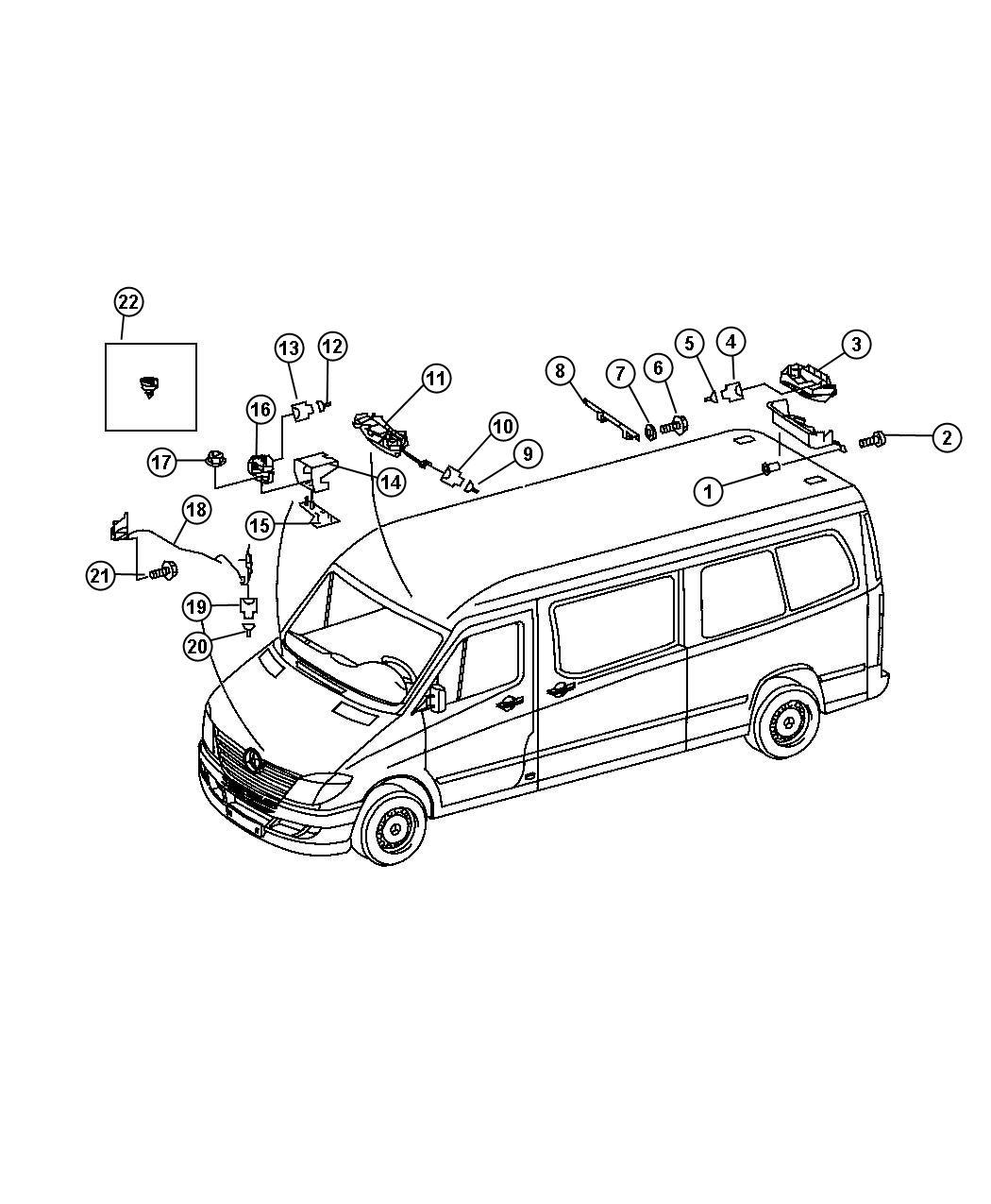 Dodge Sprinter Switch Security Alarm Underhood Siren