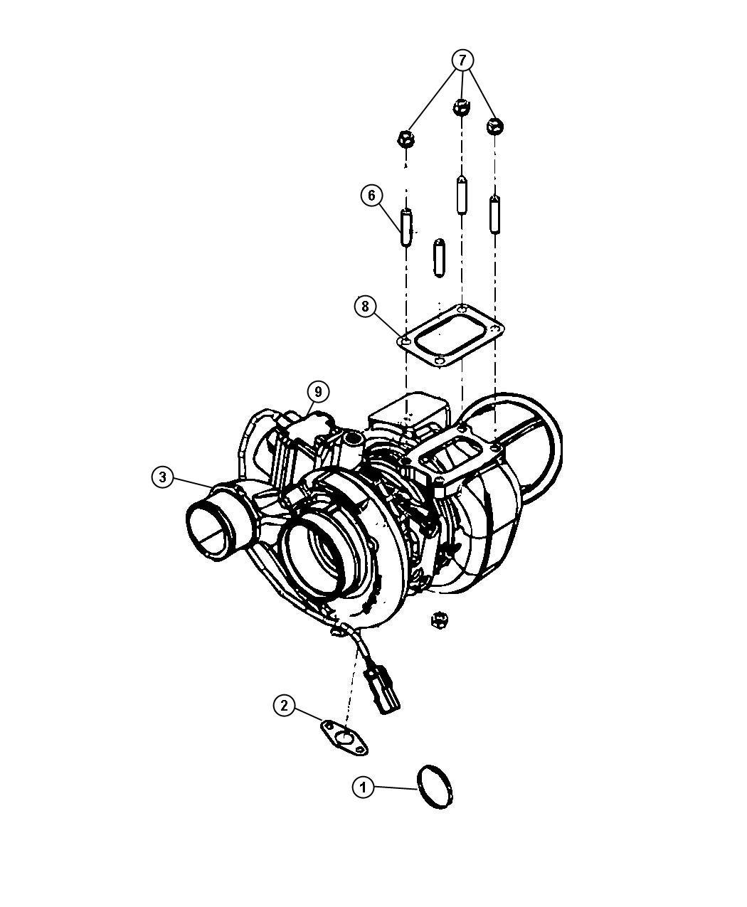 Dodge Ram Plug Package Exhaust None Oxygen Sensor