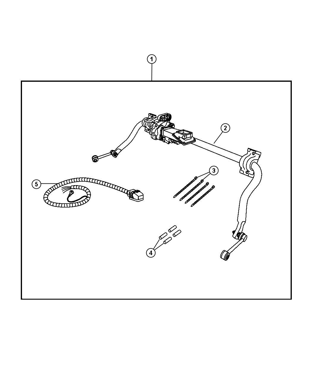 Dodge Ram Kit Includes Wiring Sway Bar Assembly