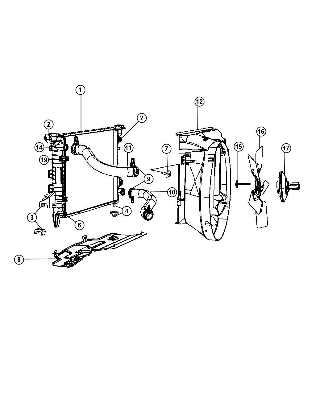 Dodge Ram Hose Radiator Radiator Outlet Upper Ezo
