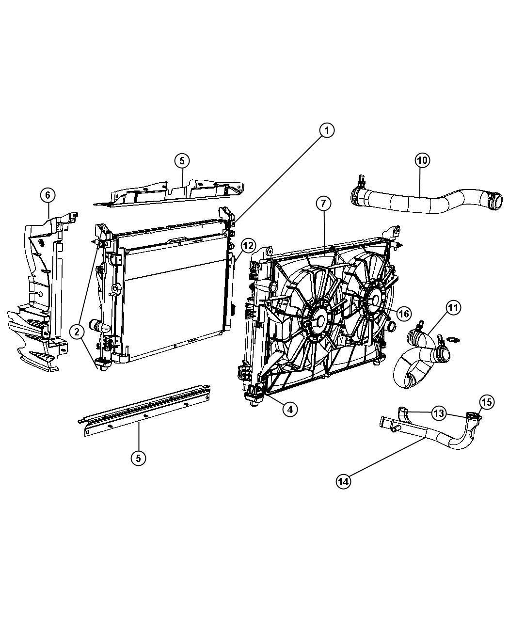 Chrysler Pacifica Hose Radiator Inlet