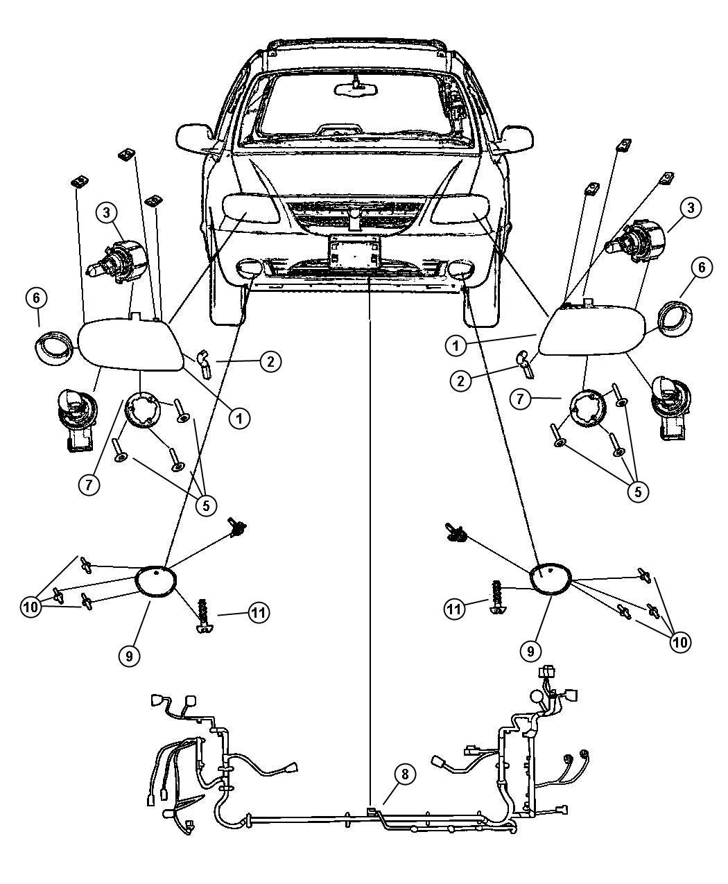 Dodge Lamp Headlamp Right Ratiomps