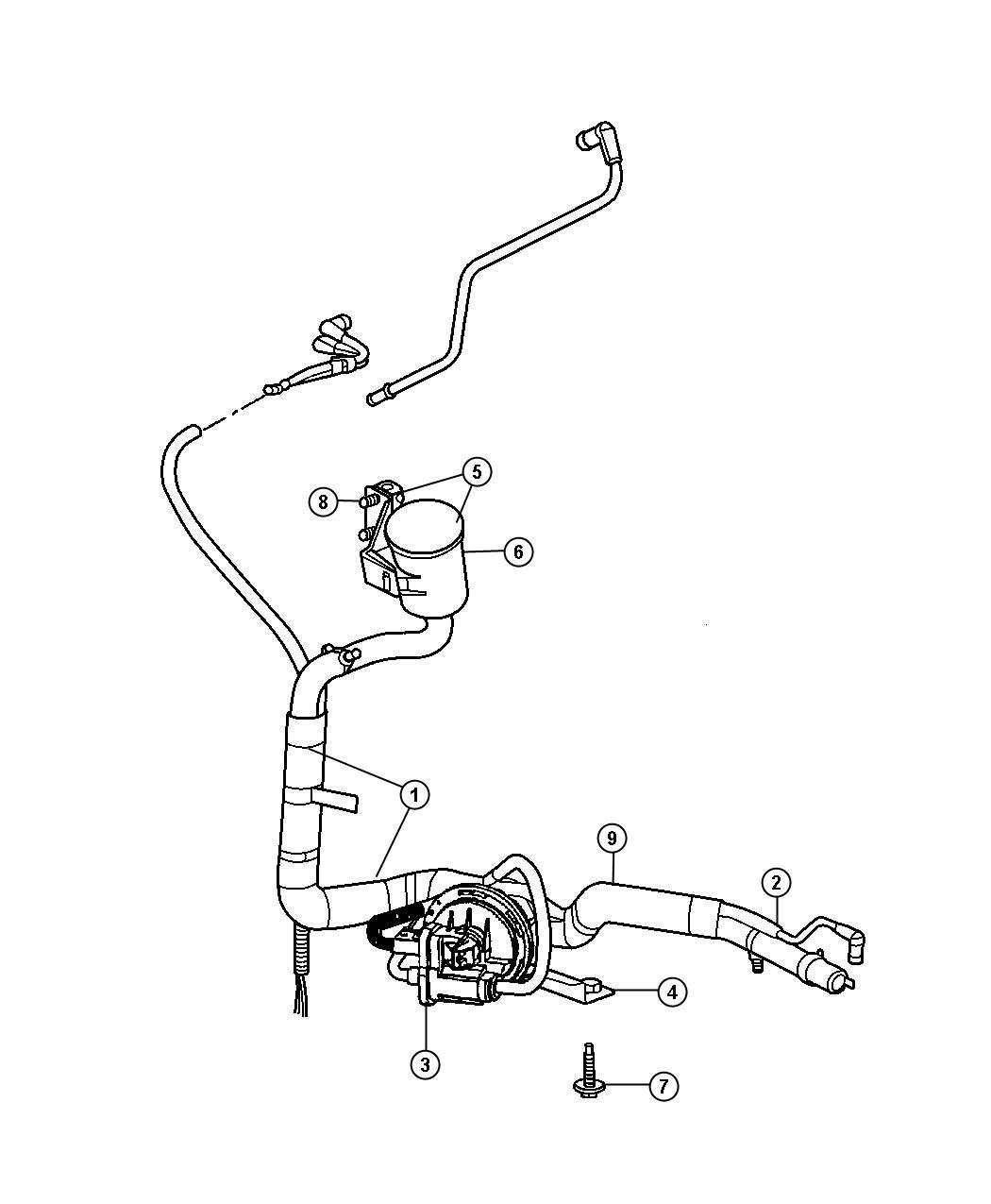 Dodge Grand Caravan Bracket. Leak detection pump