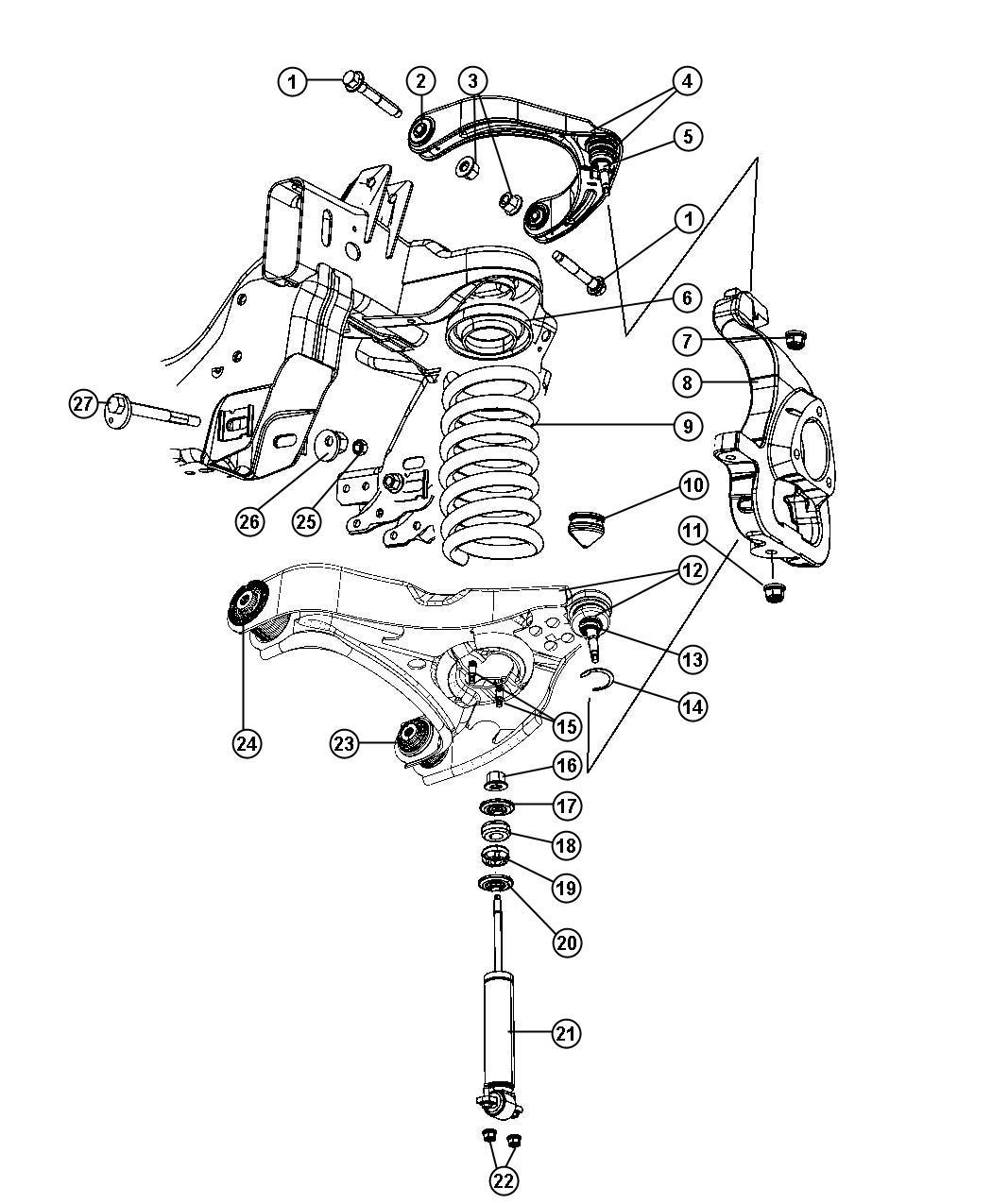 Dodge Ram Shock Absorber Package Suspension Front