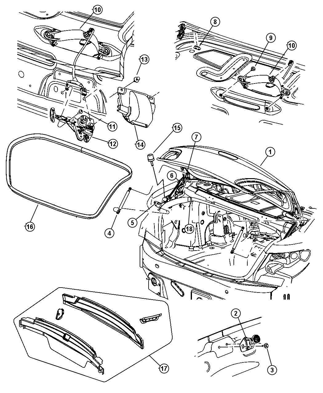 Dodge Charger Striker Decklid Latch Hatch