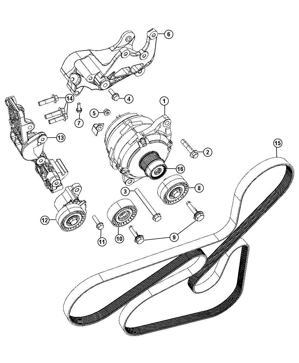 2012 Chrysler 200 LX 2.4L I4 Belt. Accessory drive