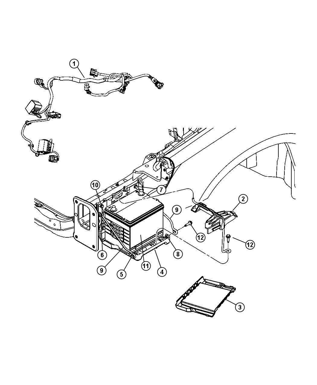 Chrysler Sebring Wiring Battery Contains Jump Start