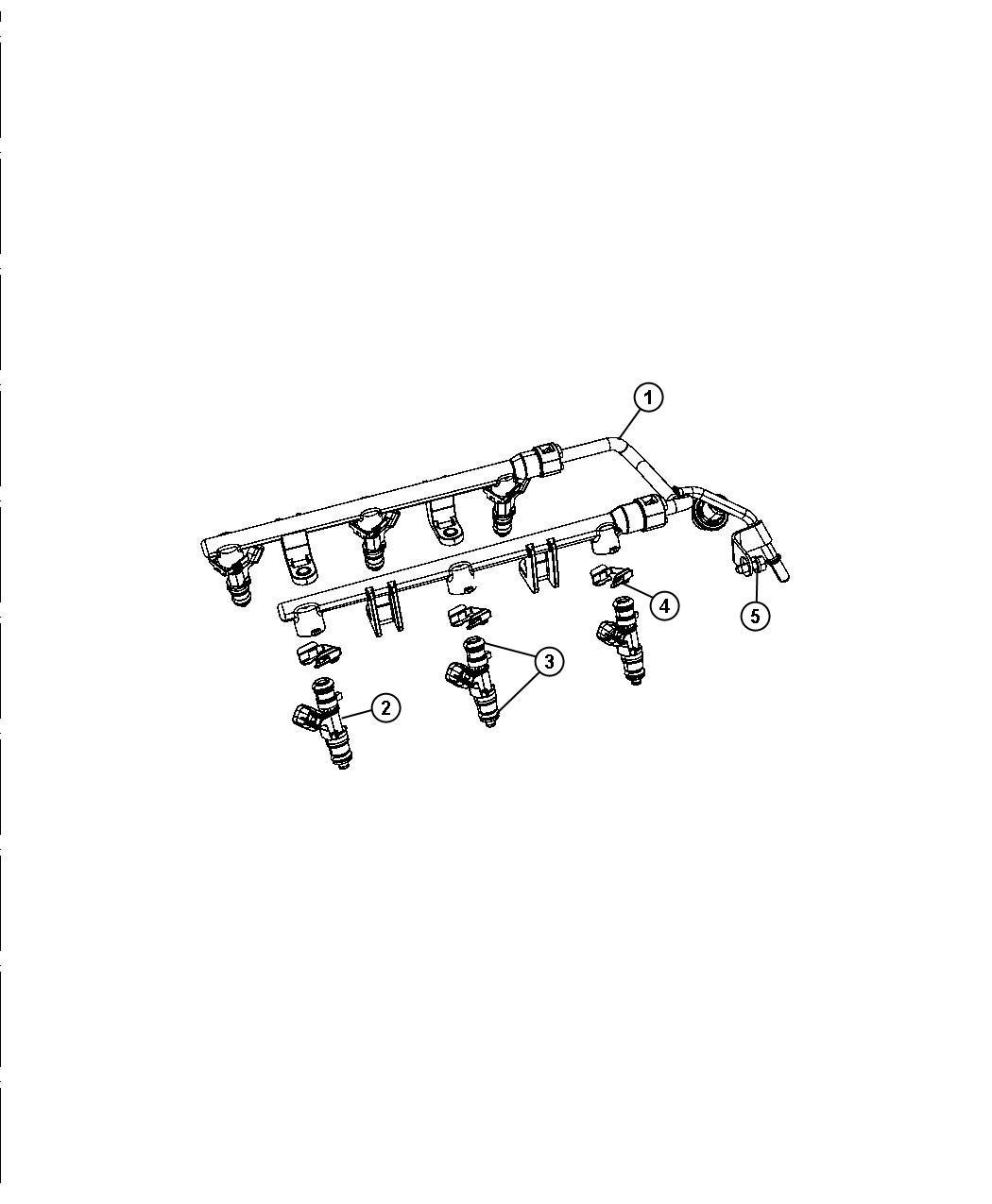 Chrysler Sebring Rail. Fuel. [all v6 engines] all 2.7