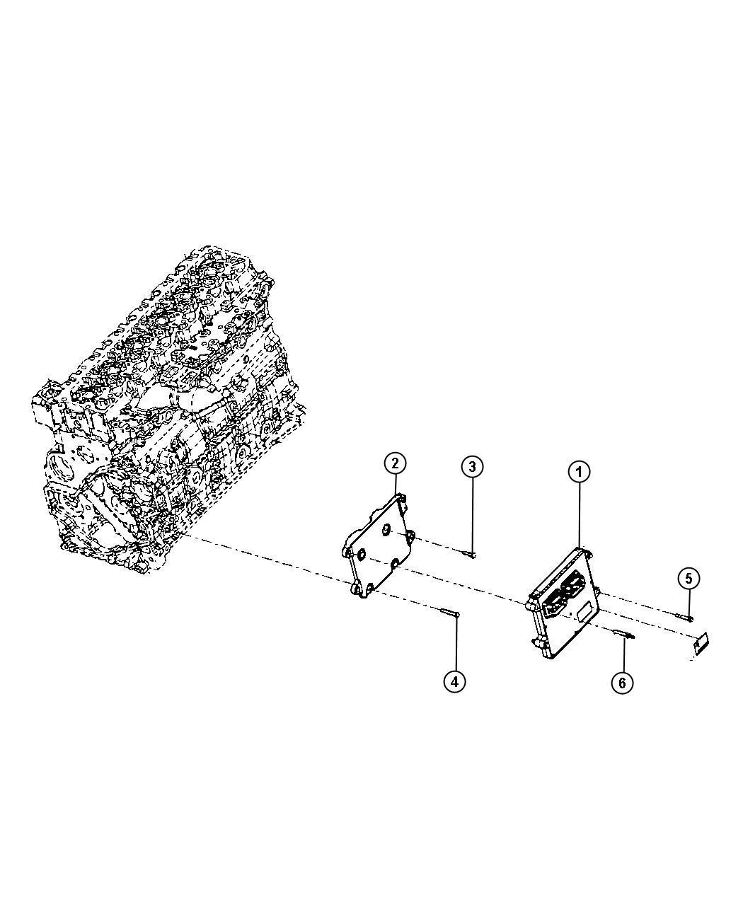 Dodge Ram 3500 Screw. Hex head. M8x1.25x50. Mounting. Fuel