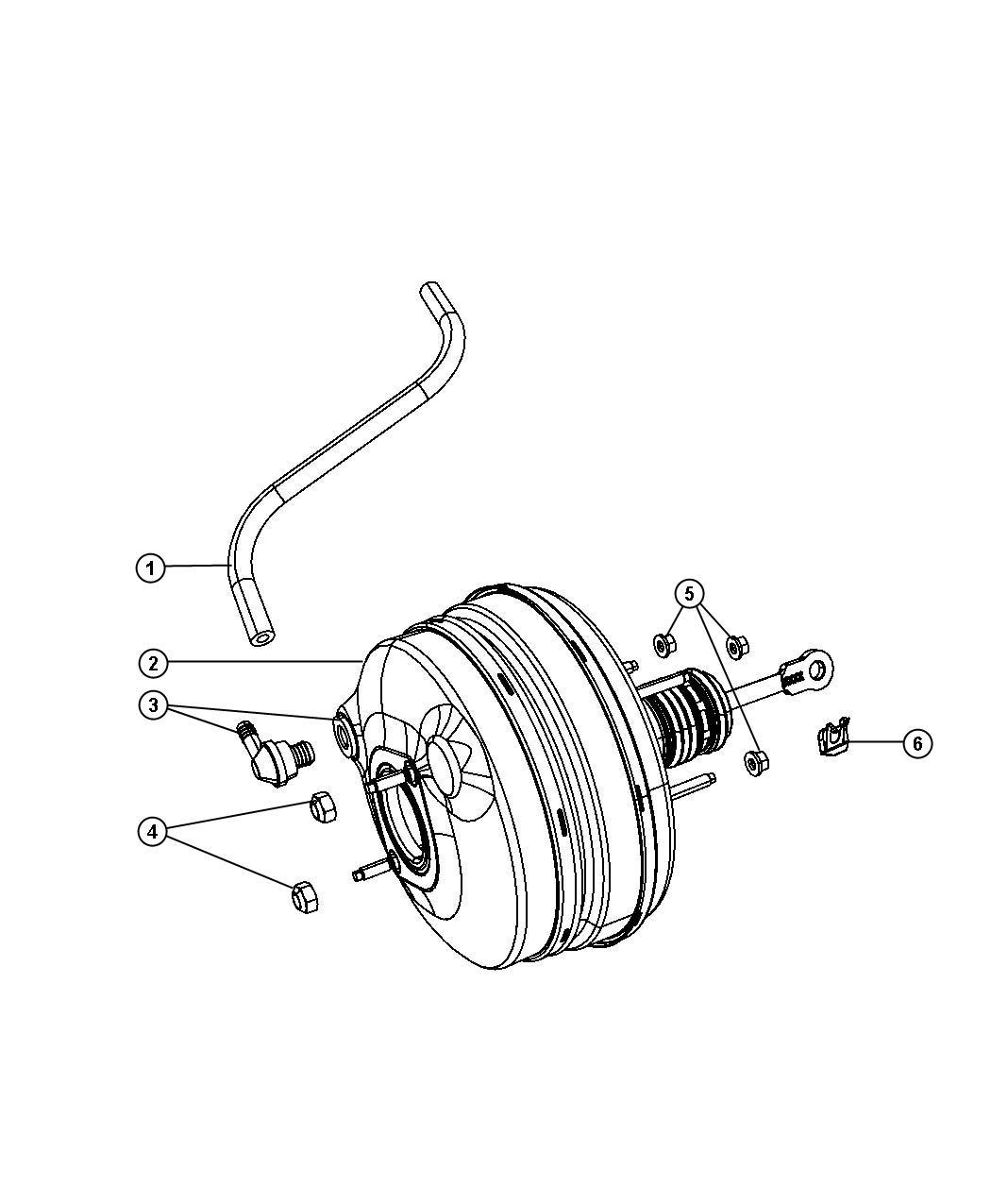Chrysler Pacifica Booster. Power brake. Boosterpower