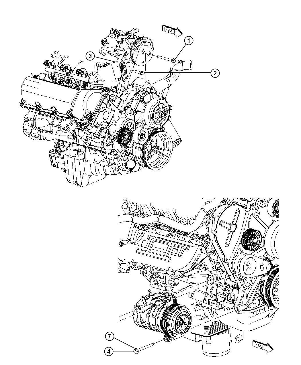 Dodge Nitro Stud. Double ended. M8x1.25x94.00, m8x1.25x98