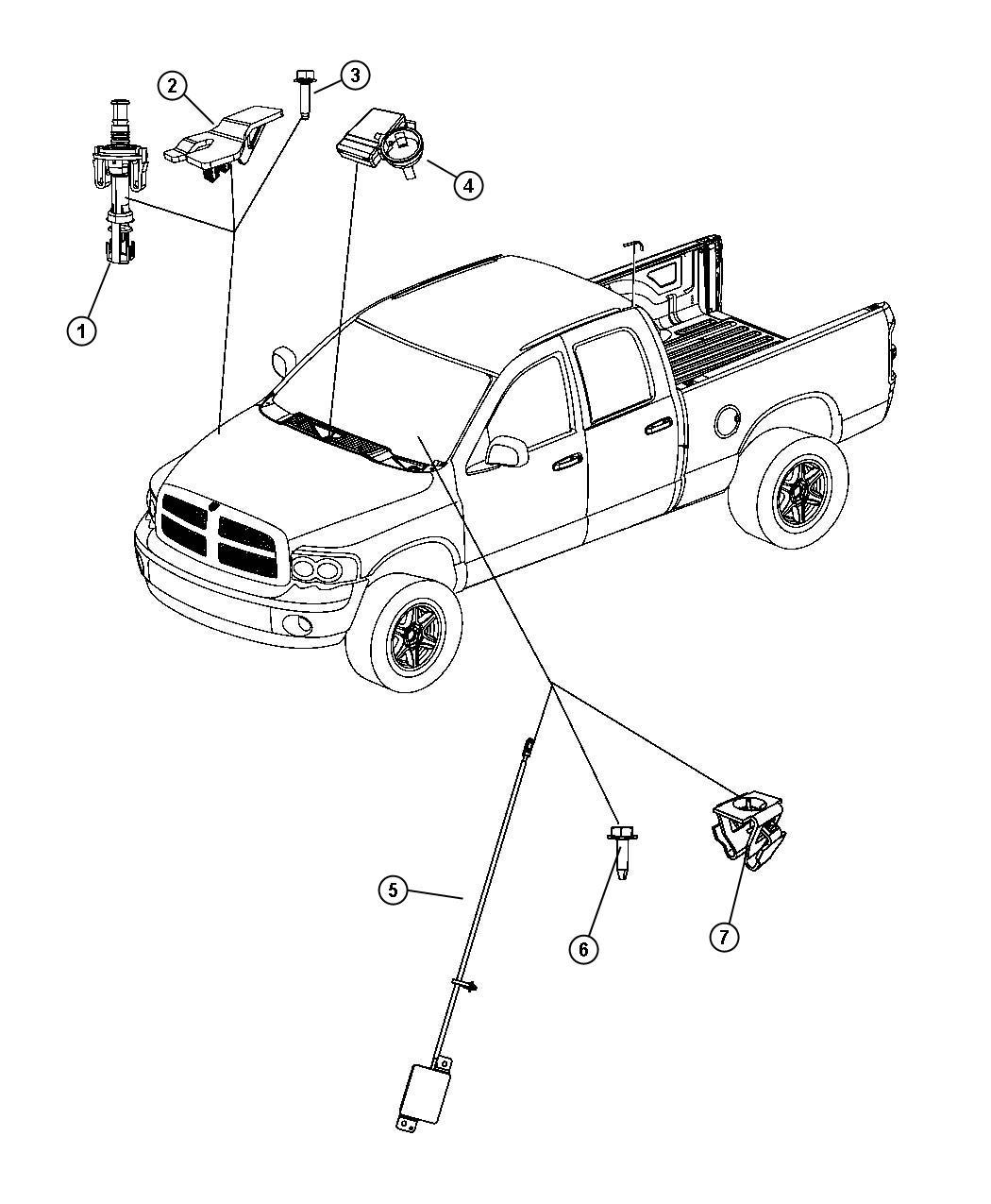 2007 Dodge Ram 1500 Antenna. Keyless entry. Remote start