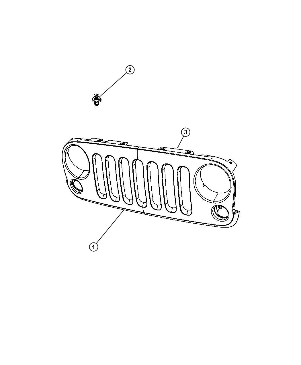 Jeep Wrangler Grille. Radiator. [r4]. Color: [no