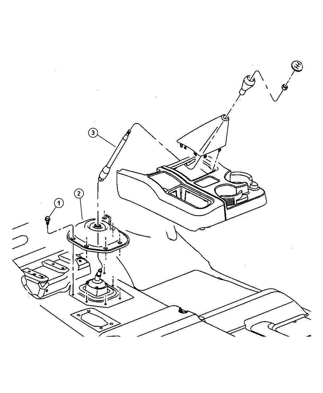 Dodge Ram Lever Gearshift