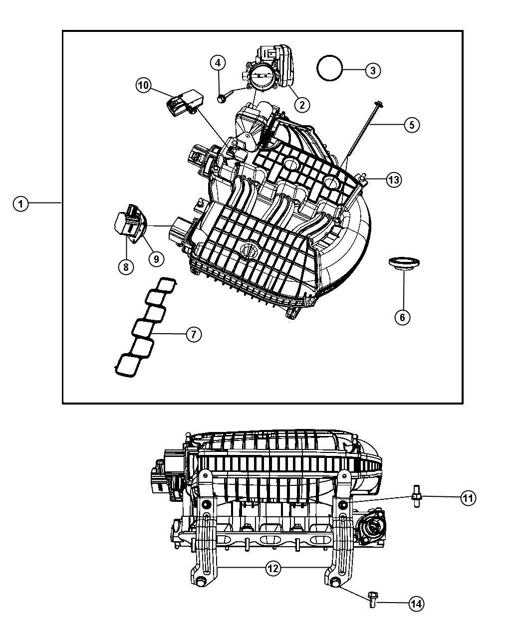Chrysler Pacifica Actuator. Intake short running valve