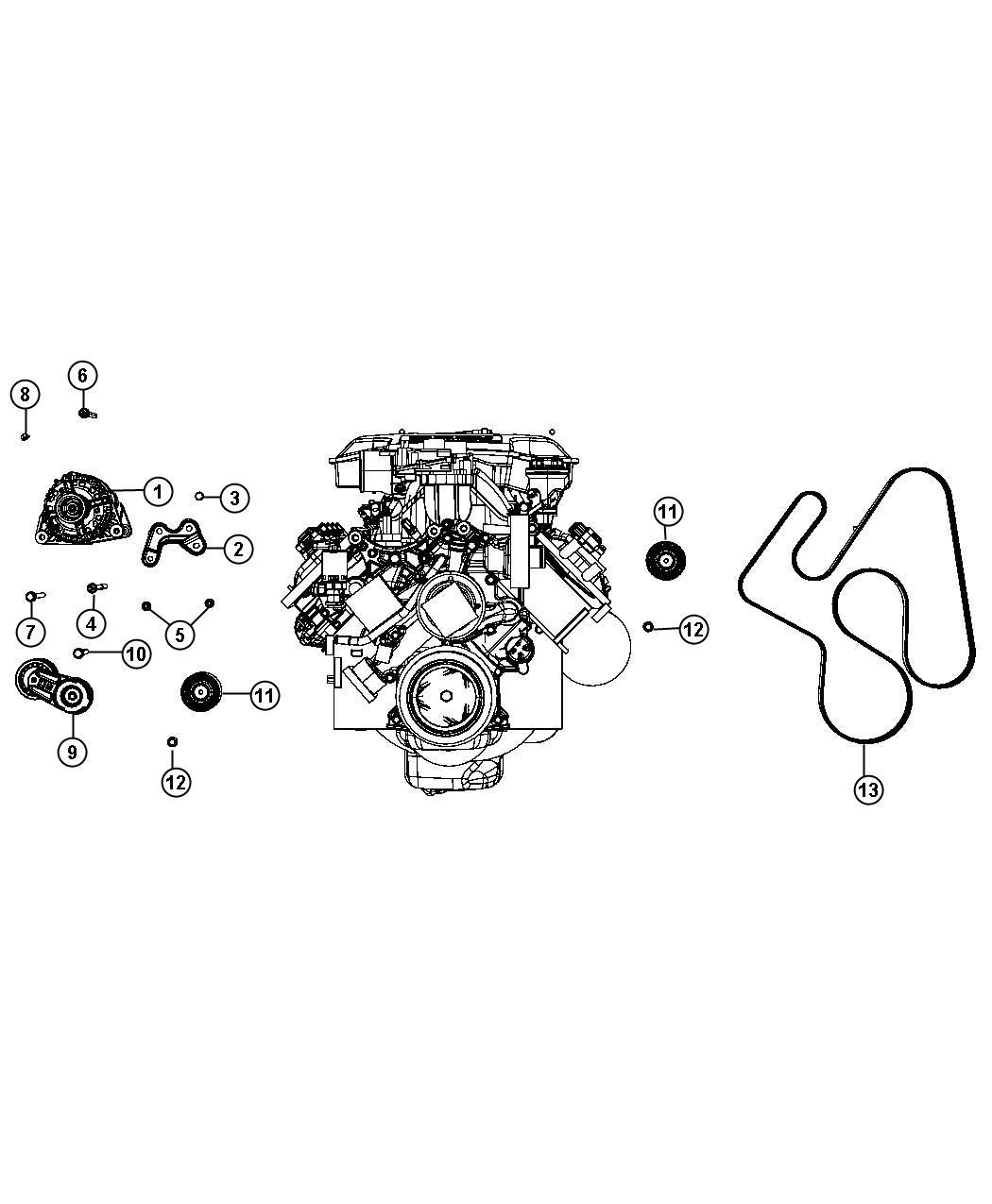 Dodge Ram Alternator Engine Bab