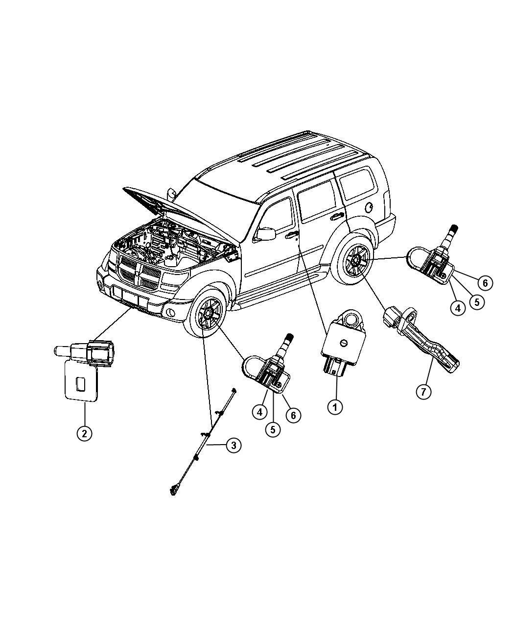 Dodge Nitro Sensor kit, sensor package. Anti-lock brakes