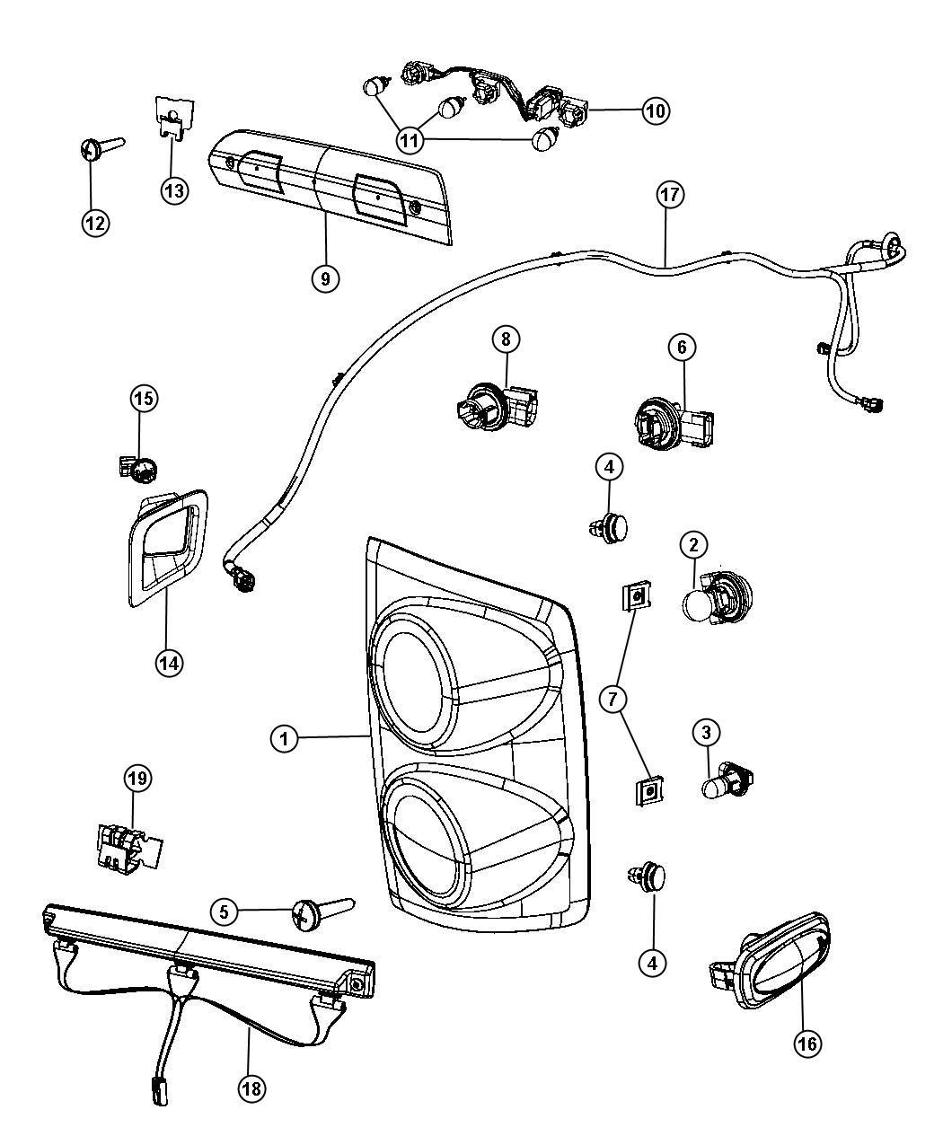 Dodge Ram 3500 Wiring. Fender lamp. [dual rear wheels