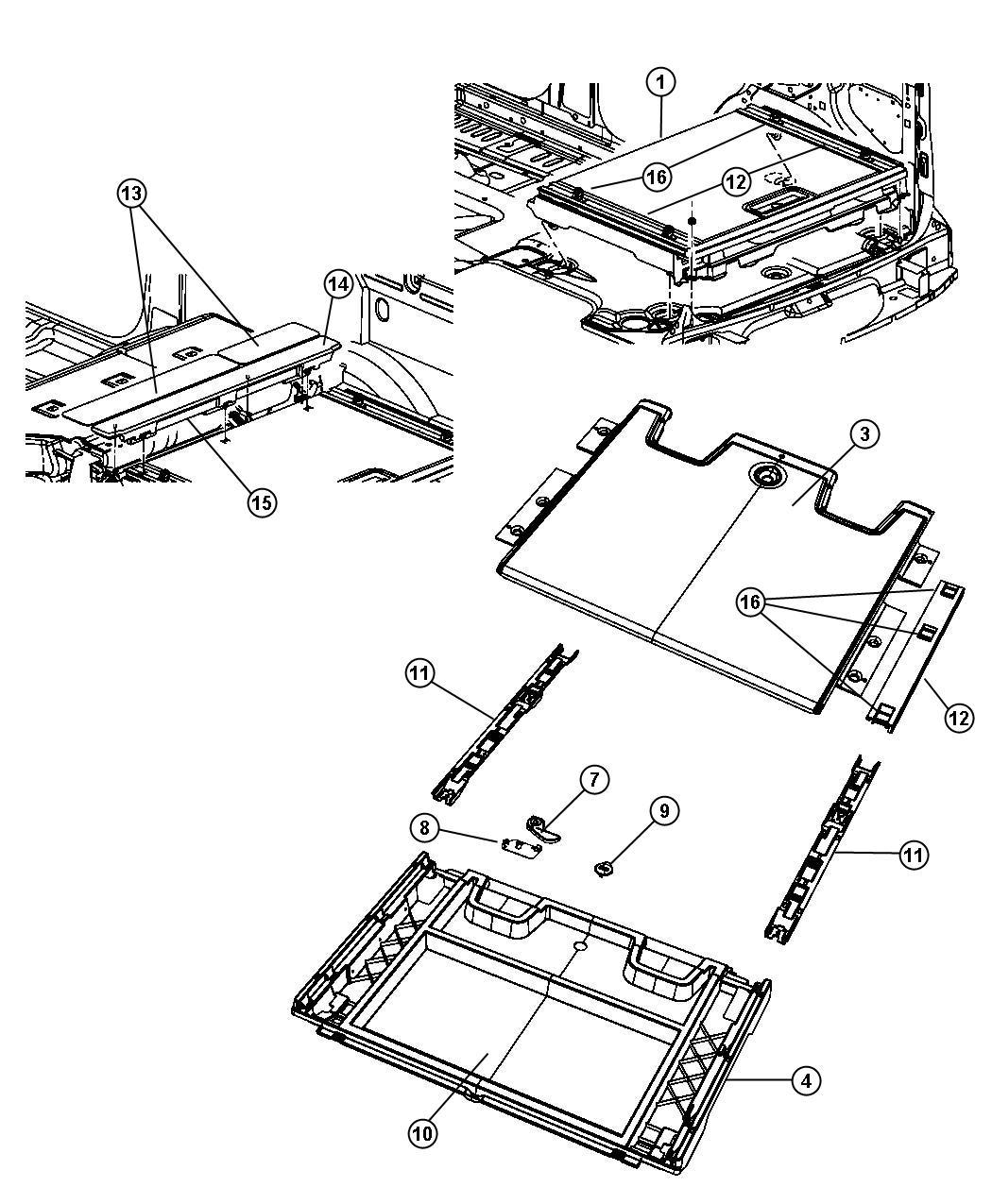 Dodge Nitro Handle. Load floor release. Trim: [all trim
