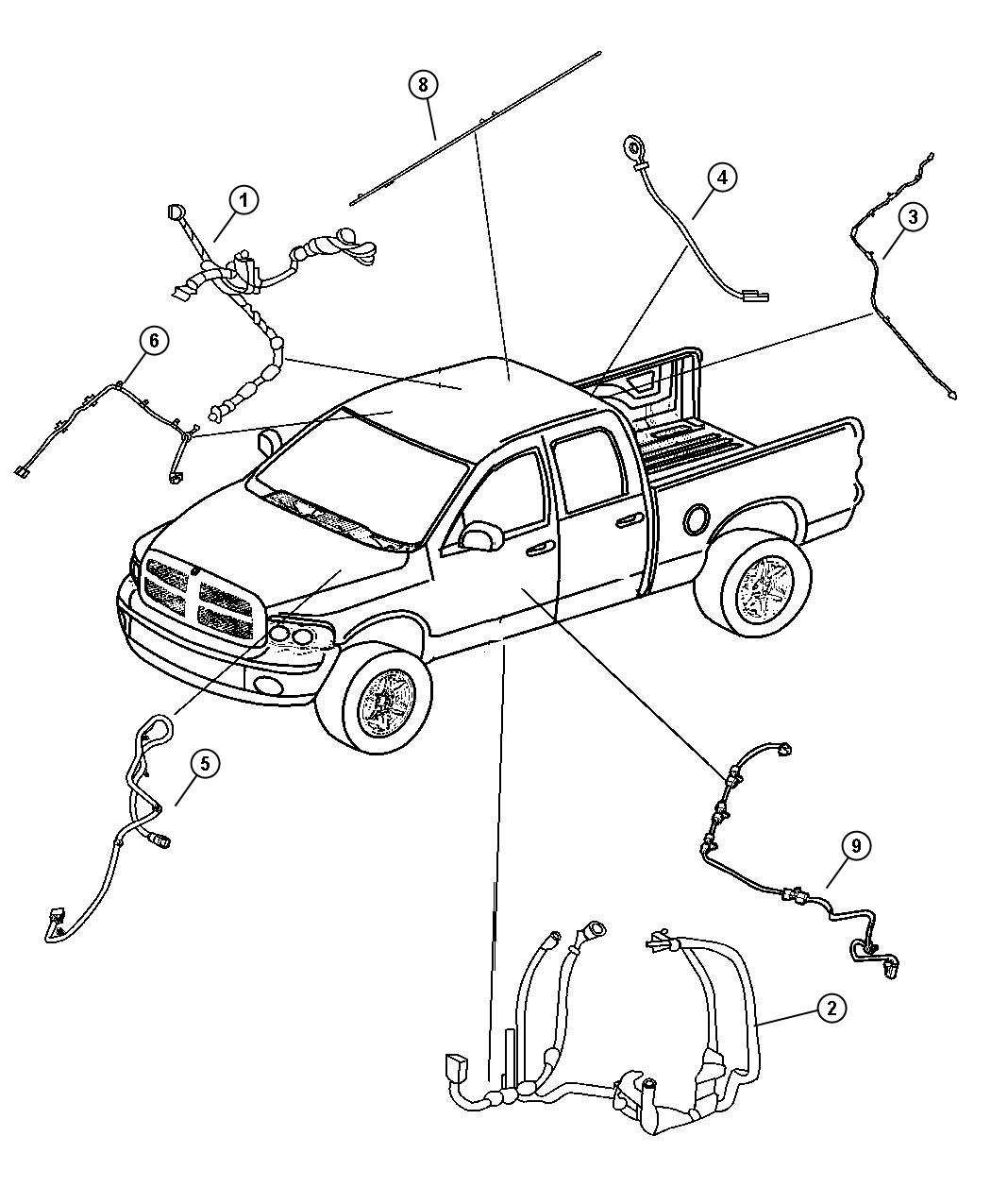 Dodge Ram 3500 Wiring. Body. [supplemental side air bags