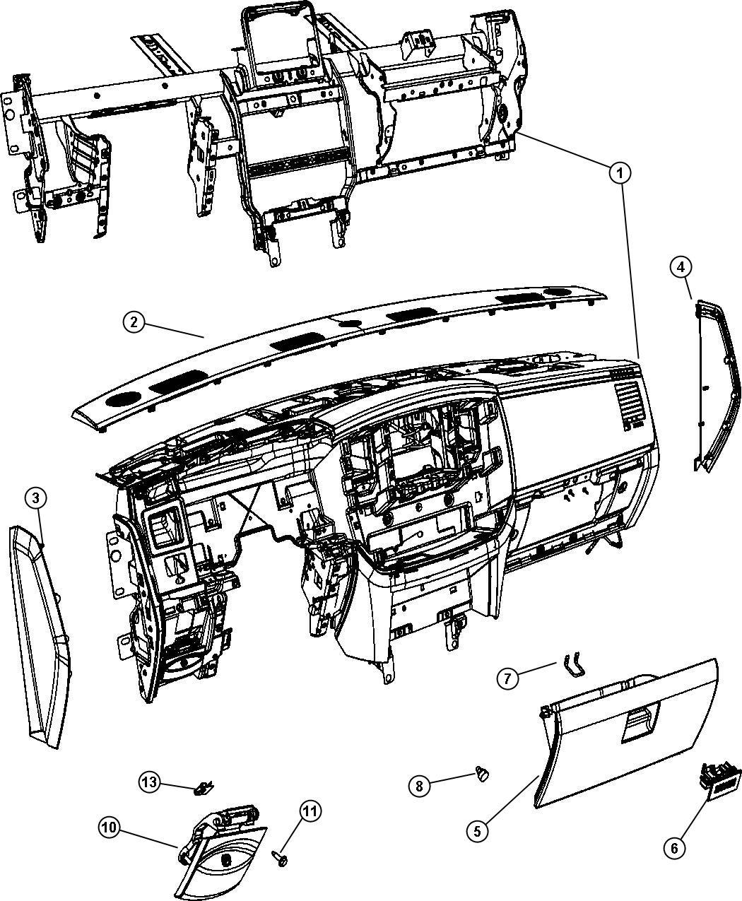 Dodge Ram Handle Parking Brake Trim All Trim