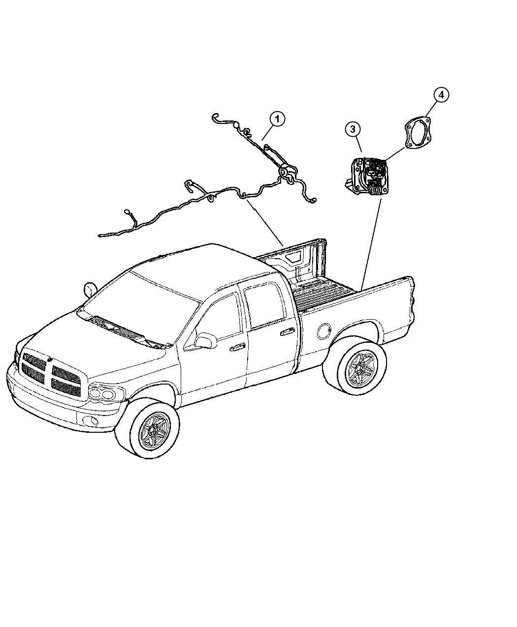 Dodge Ram Wiring Chassis 4 Wheel Disc Rr Anti Lock