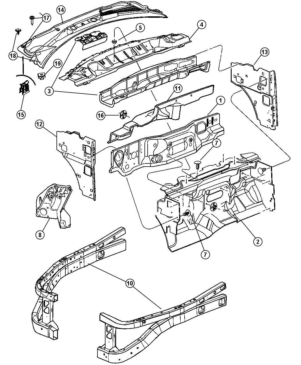 Dodge Durango Panel Cowl 7s