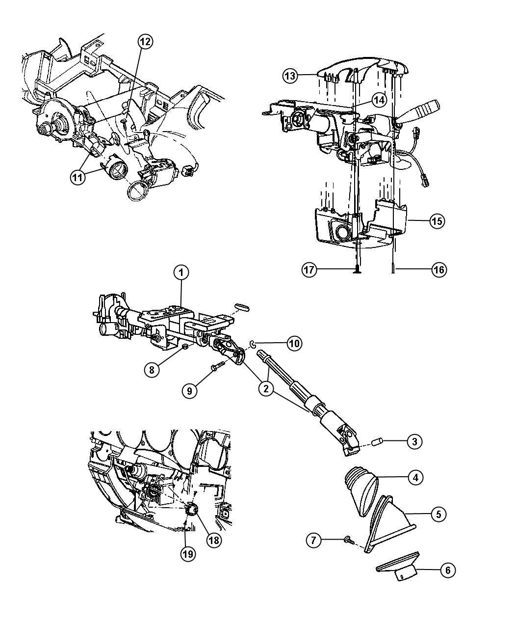 Chrysler Pt Cruiser Shroud. Steering column. Lower. [ka