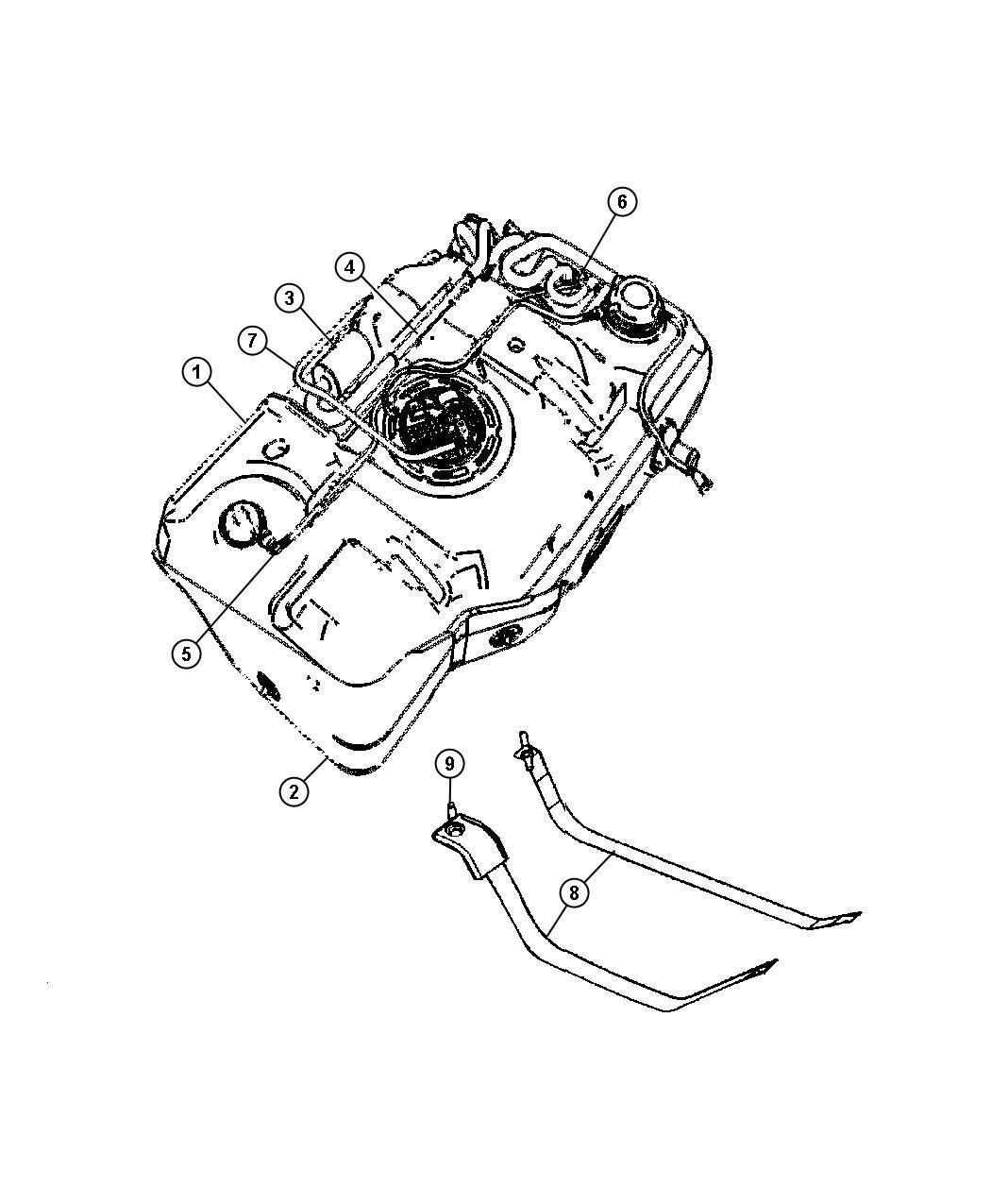 2008 Chrysler Pt Cruiser BASE 2.4L 4 Cyl A/T Filter. Leak