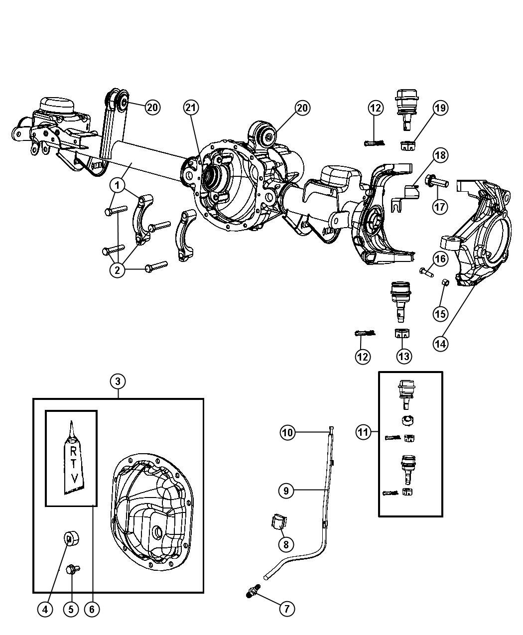 2008 Jeep Wrangler UNLIMITED X 3.8L V6 A/T 4X4 Bushing