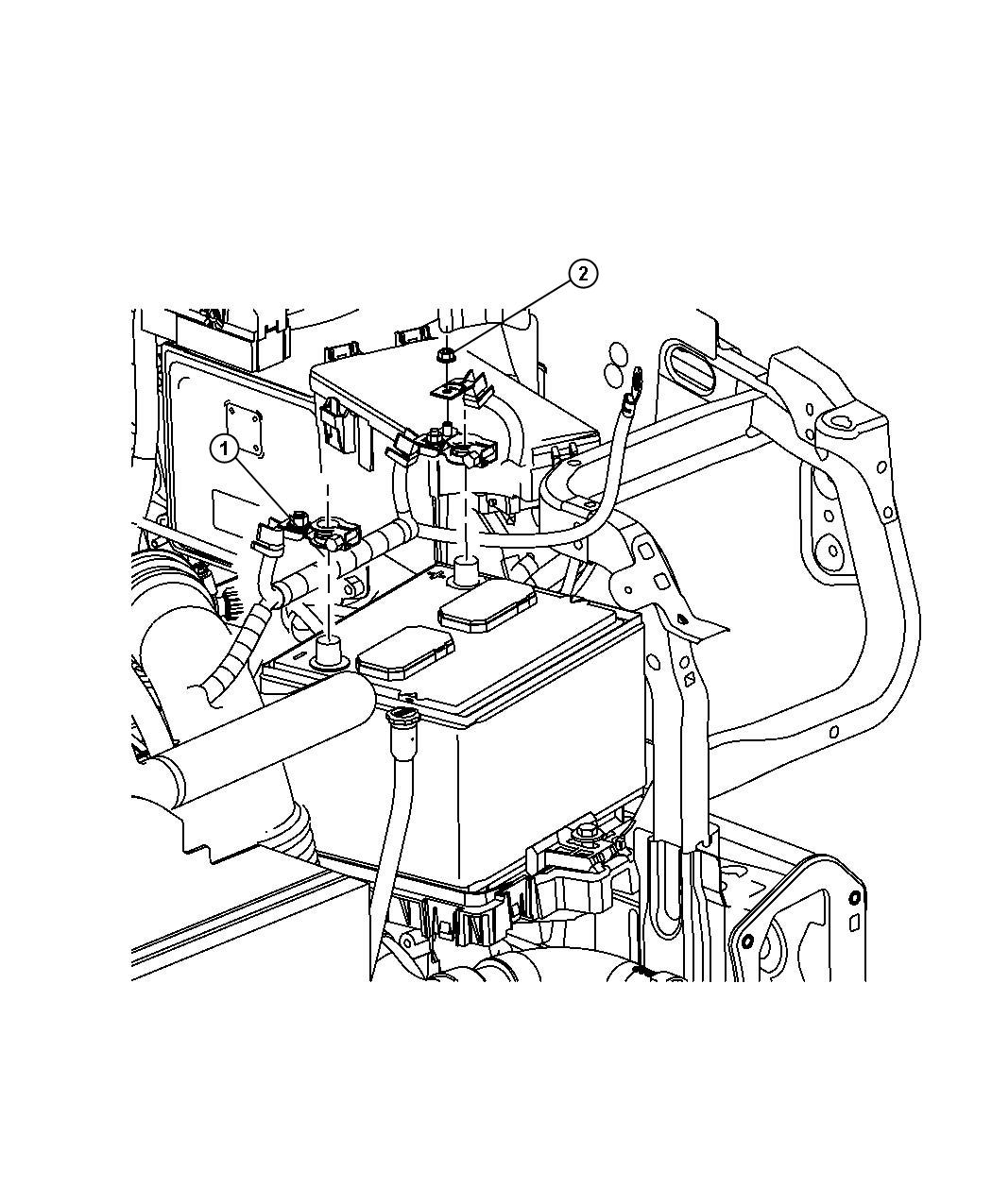 Jeep Patriot Wiring. Battery. [power train parts module